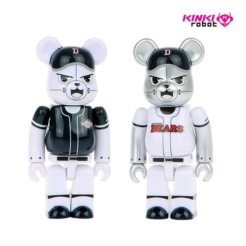 100%BEARBRICK DOOSAN BEARS HOME+AWAY