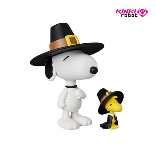 UDF PEANUTS SERIES5 PILGRIM SNOOPY AND WOODSTOCK
