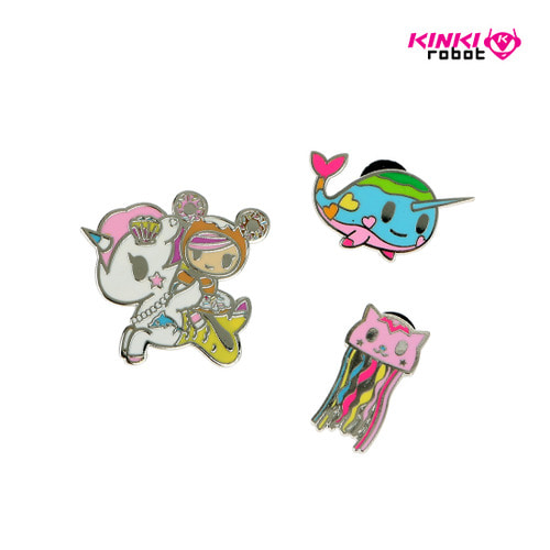 3 PACK SEAPUNK PINS