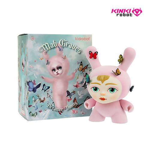 DUNNY DREAMER BY MAB GRAVES PINK 8""