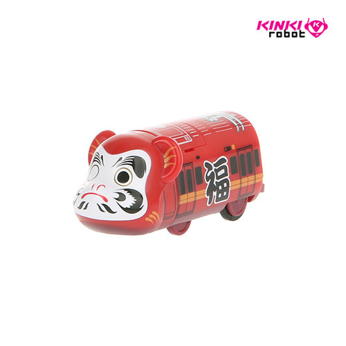 BEARBRICK TRAIN DARUMA RED TRAIN