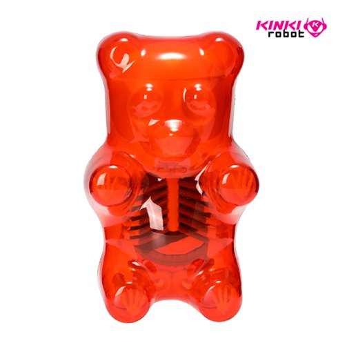 FUNNY ANATOMY GUMMI BEAR (CLEAR RED)