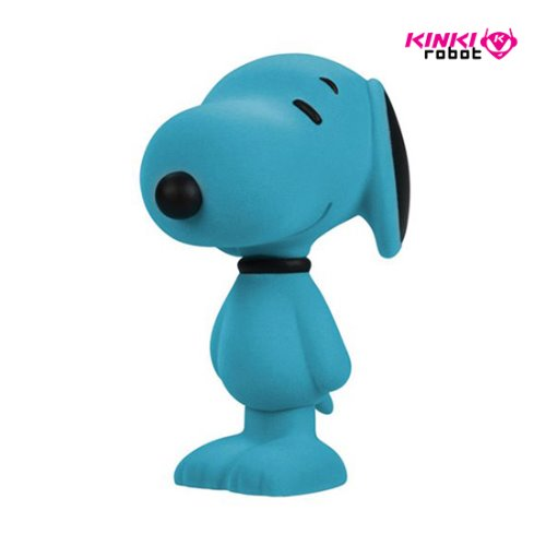 SNOOPY FLOCKED VINYL FIGURE AQUA