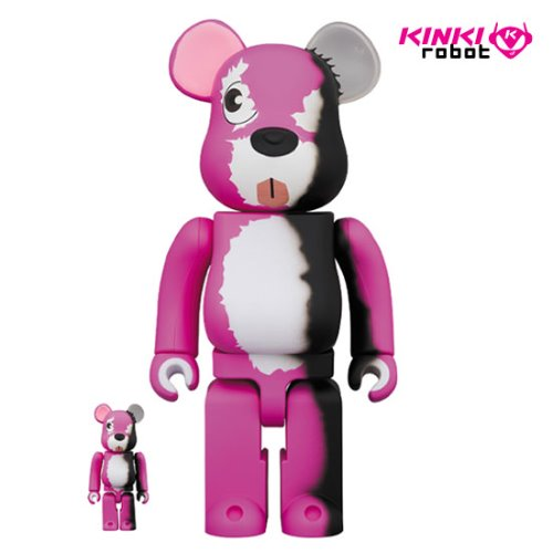 400%+100%BEARBRICK PINK BEAR