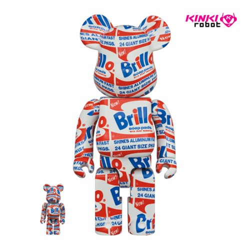 400%+100%, 1000%BEARBRICK ANDY WARHOL BRILLO(프리오더)