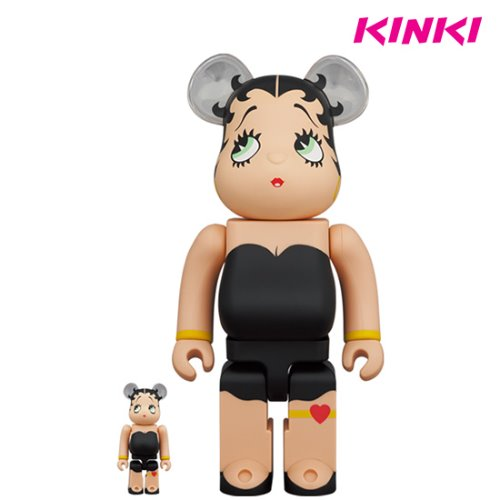 400%+100%, 1000%BEARBRICK Betty Boop BLACK Ver. (프리오더)