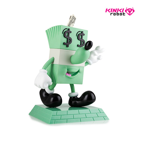 LUCKY DOLLAR MONEY BOX FIGURE BY JEREMYVILLE
