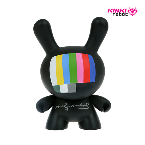 "8""Dunny Andy Warhol Masterpiece TV"