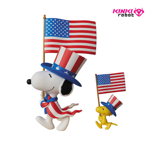 UDF PEANUTS SERIES5 USA SNOOPY AND WOOD STOCK