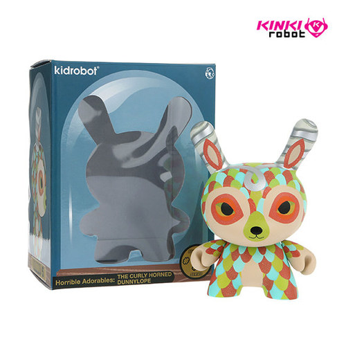 "5""DUNNY CURLY HORNED DUNNYLOPE"
