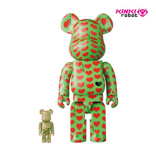 400%+100%BEARBRICK GREEN HEART (프리오더)