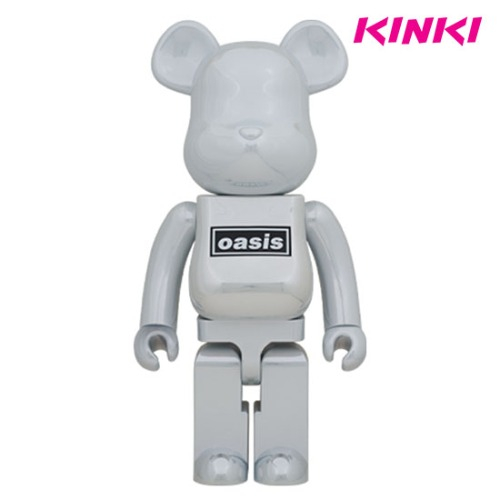 1000% BEARBRICK OASIS WHITE CHROME