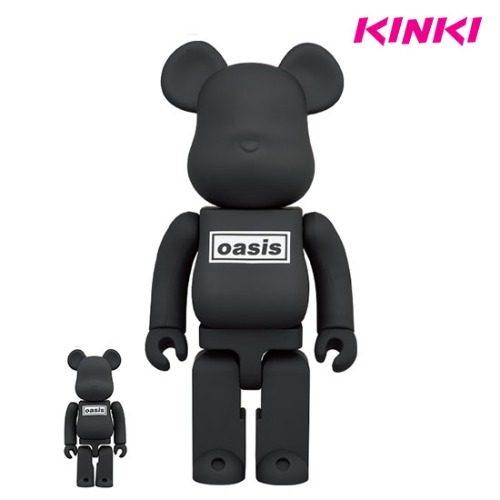 400%+100% BEARBRICK OASIS BLACK RUBBER COATING
