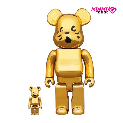400%+100%BEARBRICK NYA GOLD PLATED VER