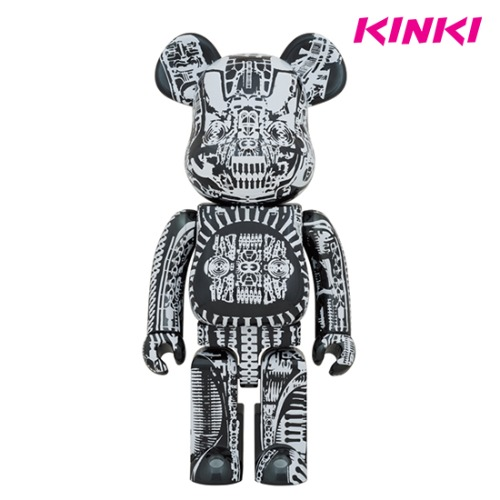 1000%BEARBRICK H.R.GIGER BLACK CHROME Ver.