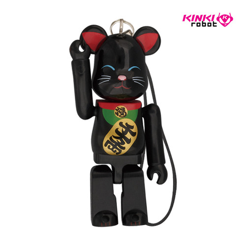 70%HAPPYBEARBRICK BECKONING CAT BLACK