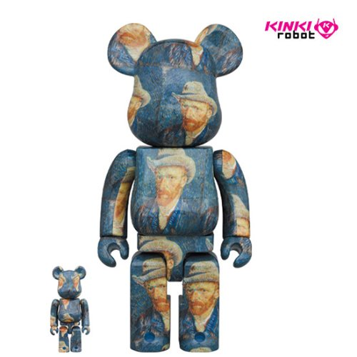 400%+100% BEARBRICK VAN GOGH MUSEUM SELF PORTRAIT